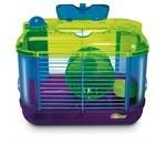 Et hamsterbur er mange timers underholdning med dit kæledyr (foto petworld.dk)